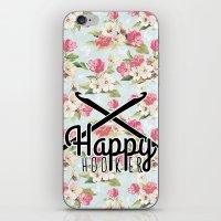 funny crochet vintage floral happy hooker iPhone & iPod Skin