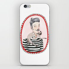 He is a cat person! iPhone & iPod Skin