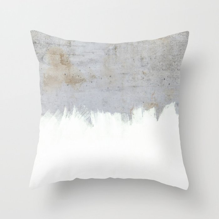 Throw Pillow Covers Society6 : Painting on Raw Concrete Throw Pillow by Cafelab Society6