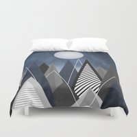 Midnight Mountains Duvet Cover