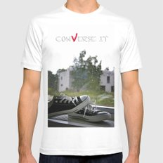 Converse It White Mens Fitted Tee SMALL