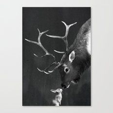 Elk and Rabbit Canvas Print
