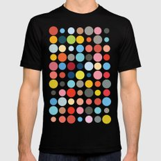Tangled Up In Colour SMALL Black Mens Fitted Tee