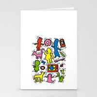 Haring - Simpsons Stationery Cards