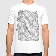 Minimal Curves SMALL Mens Fitted Tee White