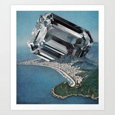 Costa Del Diamante Art Print