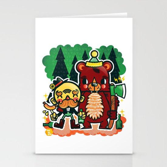 Lumberjack and Friend Stationery Card