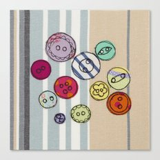 Embroidered Button Illustration Canvas Print