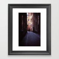 Stockholm Gamla Stan All… Framed Art Print
