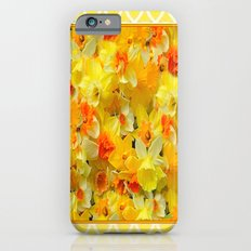 Decorative Yellow Spring Daffodils Collage Art iPhone 6 Slim Case