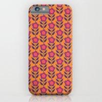 Retro bloom purple 5 iPhone 6 Slim Case