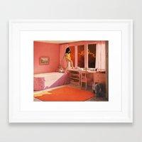 HOT LAVA Framed Art Print
