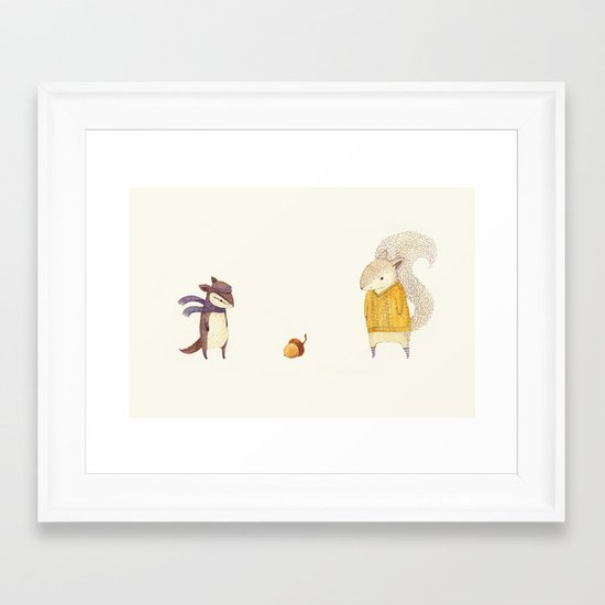 The Last Acorn of Autumn Framed Art Print