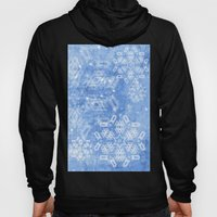 Abstract Snow Flakes On … Hoody