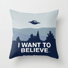 My X-files: I want to believe poster Throw Pillow