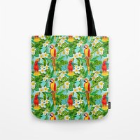 Tropical Parrot Chillin Tote Bag