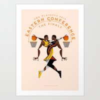NBA PLAYOFFS 2014 - EASTERN CONFERENCE FINALS Art Print