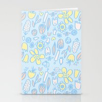 Bunnies And Blooms Stationery Cards