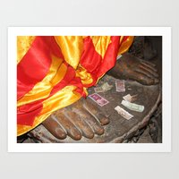 Offerings to Buddha Art Print