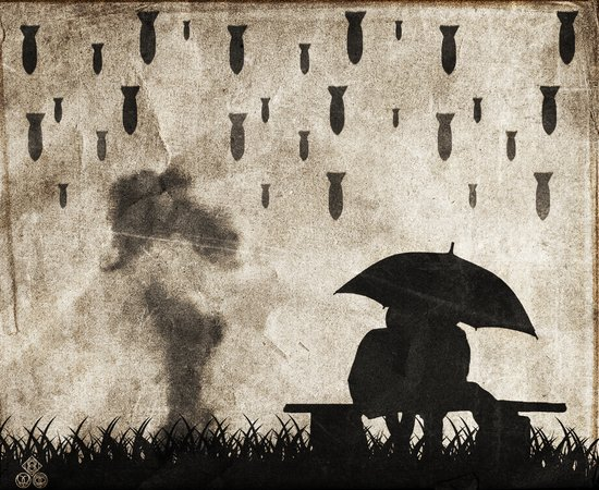 the day it rained Art Print