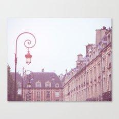 Paris, Place des Vosges (violet) Canvas Print
