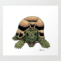 Happy Tortoise Art Print