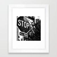 Stop All War. Framed Art Print