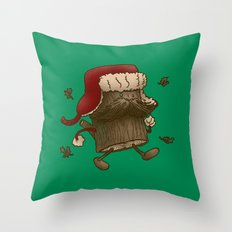 Logstache Throw Pillow