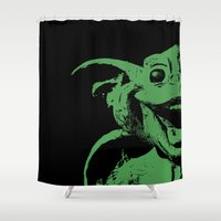 Happy Gargoyle Shower Curtain