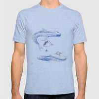 Alluvione | Flood Mens Fitted Tee Athletic Blue SMALL