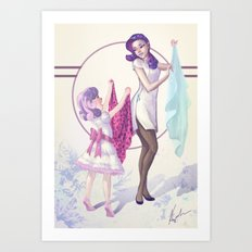 Sisterly Affection Art Print