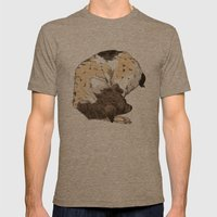 Sleeping Dog #002 Mens Fitted Tee Tri-Coffee SMALL