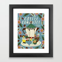 The Coffee Carousel Framed Art Print