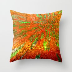 Metallic sun Throw Pillow