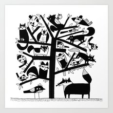 ANIMAL TREE Art Print