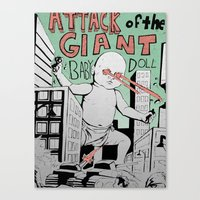 Attack of the Giant Baby Doll Canvas Print