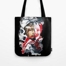 cosmonaut portrait by carographic Tote Bag