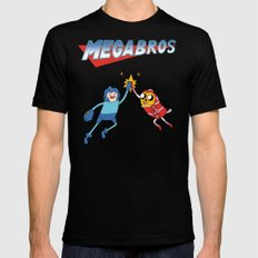 Mega Bros Black SMALL Mens Fitted Tee