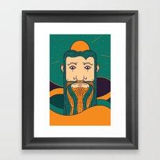 Long Face Framed Art Print