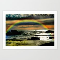 Pacific Rainbow Art Print
