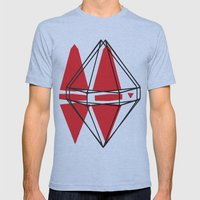 Geometric Mens Fitted Tee Athletic Blue SMALL