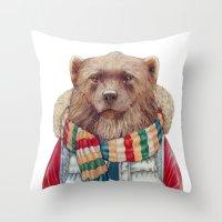 WinterWolverine Throw Pillow