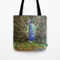 The Peacock The Land Of… Tote Bag