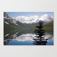 Mountain Reflection With… Canvas Print