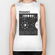 Phases of the Moon infographic Biker Tank