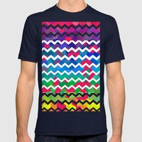 Mixed Colors Mens Fitted Tee Navy SMALL