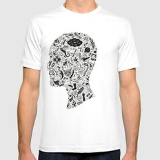 It's All In My Head Mens Fitted Tee SMALL White