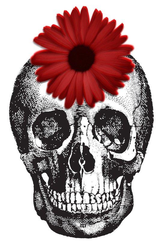 Skulls & Flower Art Print