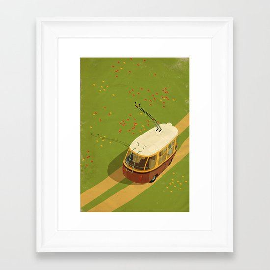 Trolley Rides The Field Framed Art Print