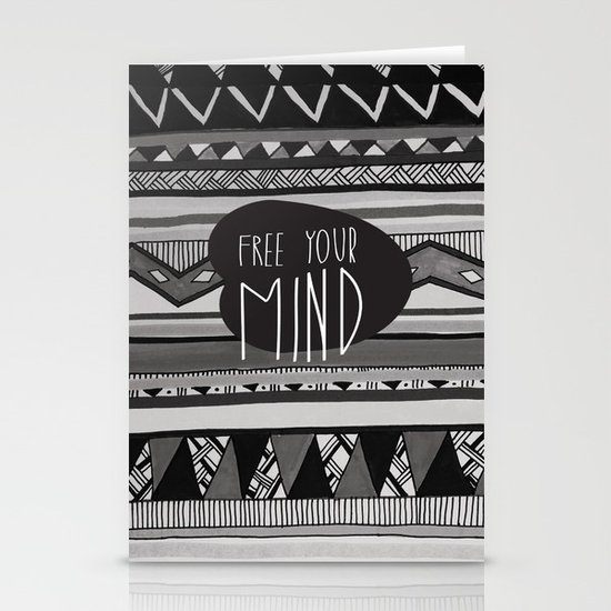 FREE YOUR MIND Stationery Card